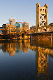 Sacramento bij zonsondergang Royalty-vrije Stock Foto's