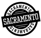 Sacramento black and white badge. City and country series Royalty Free Stock Image