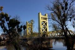 Sacramento, CA, USA - Brücke Stockfotografie