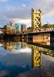 Sacramento California. Tower Bridge in Sacramento California royalty free stock images