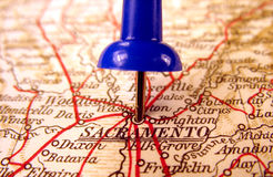 Sacramento, California. The way we looked at it in 1949 royalty free stock photos