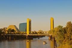 Tower Bridge Sacramento California  Royalty Free Stock Photo