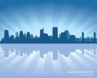 Sacramento California city skyline silhouette. Sacramento, California city skyline Background vector illustration Stock Photo