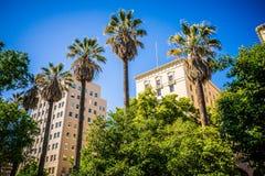 Sacramento california city skyline and street views royalty free stock photos