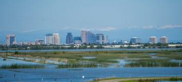 Sacramento california cityscape skyline on sunny day royalty free stock photography