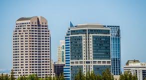 Sacramento california cityscape skyline on sunny day stock photography