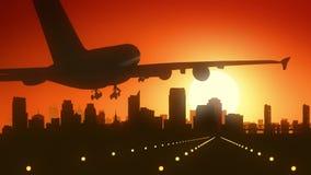 Sacramento California USA America Skyline Sunrise Landing royalty free stock photography