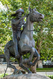 SACRAMENTO, CALIFORNIA/USA - AUGUST 5 : Pony Express statue in S Stock Images