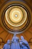 Sacramento Capitol Building Rotunda, California. Columbus' Last Appeal to Queen Isabella Statue and Rotunda in Sacramento Capitol, California royalty free stock image