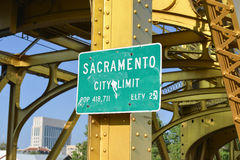 Sacramento City Limit Sign Royalty Free Stock Image