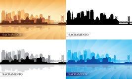 Sacramento city skyline silhouettes set. Vector illustration Stock Photo