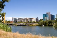 Sacramento City Skyline Stock Photos