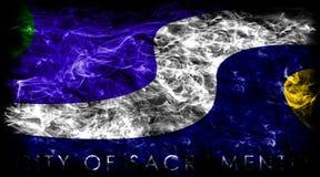 Sacramento city smoke flag, California State, United States Of A. Merica Royalty Free Stock Photography