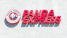 SACRAMENTO, DE V.S. - 13 SEPTEMBER: Panda Express-restaurant op Sept. Stock Foto's