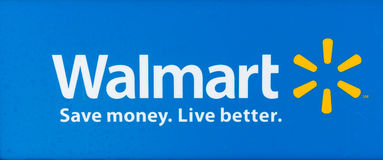 SACRAMENTO, DE V.S. - 13 SEPTEMBER: Walmartteken op 13 September, 20 Stock Foto's