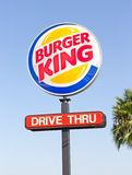 SACRAMENTO, EUA - 13 DE SETEMBRO: Sinal do polo de Burger King em Septemb Foto de Stock