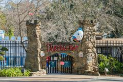 Exterior entrance of Fairytale Town stock photo