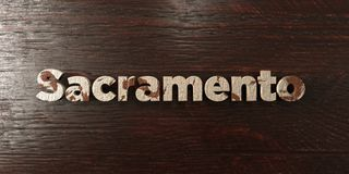 Sacramento - grungy wooden headline on Maple  - 3D rendered royalty free stock image Royalty Free Stock Image