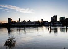 Sacramento Kalifornien/Förenta staterna - December 21, 2012 flod F Arkivbilder