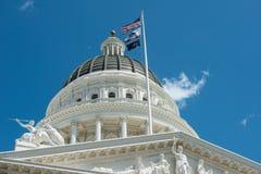 Sacramento Kapitoliumbyggnad Fotografering för Bildbyråer