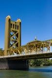 Sacramento klaffbro Royaltyfri Bild