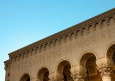 Sacramento Memorial Auditorium HDR Corner Stock Image