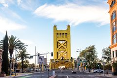Sacramento na most tower zdjęcie royalty free