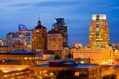 Sacramento na noite fotografia de stock
