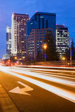 Sacramento at night. Office buildings Sacramento downtown at night stock images