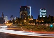 Sacramento at night stock image