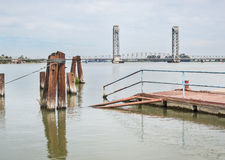 Sacramento River Delta bridge Royalty Free Stock Photography