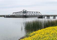 Sacramento River deltabro Arkivbilder