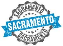 Sacramento round ribbon seal Royalty Free Stock Photography
