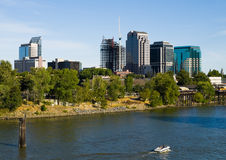 Sacramento skyline Royalty Free Stock Photography