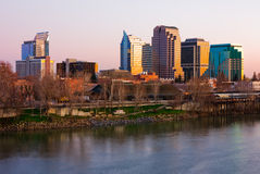 Sacramento skyline Royalty Free Stock Images