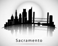 Sacramento skyline. California. Vector illustration Stock Image