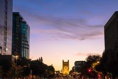 Sacramento-Sonnenuntergang Stockfoto