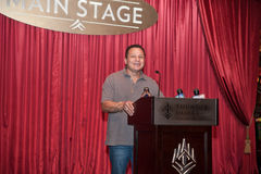 Sacramento Sports Hall of Fame. LINCOLN, CA - January 30: Tony Tiger Lopez speaks at the Sacramento Sports Hall of Fame press conference held at Thunder Valley Stock Image