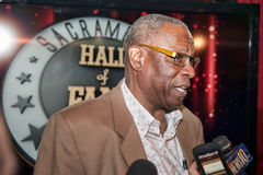 Sacramento Sports Hall of Fame. LINCOLN, CA - January 30: Dusty Baker talks to reporters at the Sacramento Sports Hall of Fame press conference held at Thunder Stock Photos