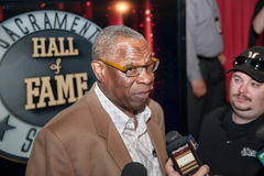 Sacramento Sports Hall of Fame. LINCOLN, CA - January 30: Dusty Baker talks to reporters at the Sacramento Sports Hall of Fame press conference held at Thunder Stock Images