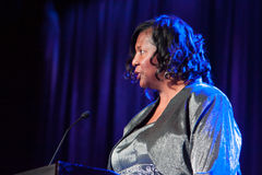 Sacramento Sports Hall of Fame. LINCOLN, CA - February 2: Thelma Cartwright introduces Bill Cartwright at the Sacramento Sports Hall of Fame held at Thunder Stock Photo
