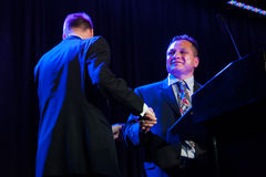Sacramento Sports Hall of Fame. LINCOLN, CA - February 2: Tony Tiger Lopez accepts award at the Sacramento Sports Hall of Fame at Thunder Valley Casino Resort in Stock Photo