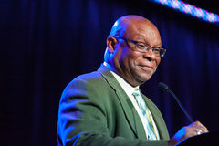Sacramento Sports Hall of Fame. LINCOLN, CA - February 2: Rodney Baker introduces brother Dusty Baker at the Sacramento Sports Hall of Fame at Thunder Valley Royalty Free Stock Photos
