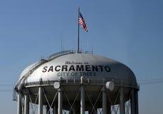 Sacramento stad av träd Arkivbild
