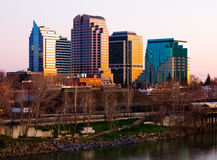 Sacramento at sunset Royalty Free Stock Images