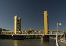 Sacramento tower bridge royalty free stock photography