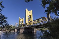 Sacramento Tower Bridge Royalty Free Stock Images