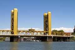 Sacramento Tower Bridge Royalty Free Stock Photo