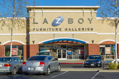 SACRAMENTO, USA - DECEMBER 21:   La-Z-Boy store entrance on Dece Royalty Free Stock Image