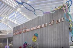 SACRAMENTO USA NOVEMBER 13th 2016; Shrem konstmuseum på universitetsområdet av Uc Davis Arkivbild